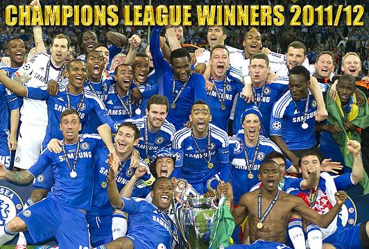 Chelsea FC European Champions 2012 Destiny Strikes The Blues